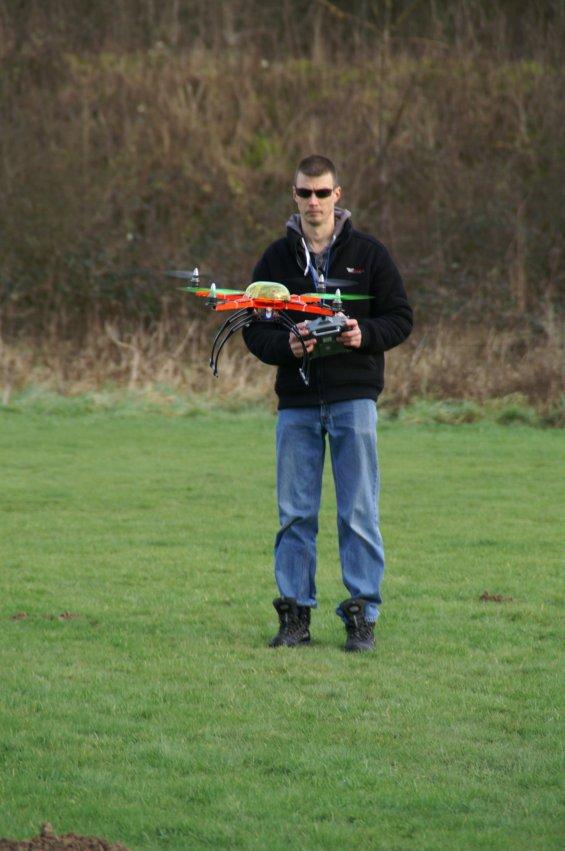 Fabrice et son Quadricoptère