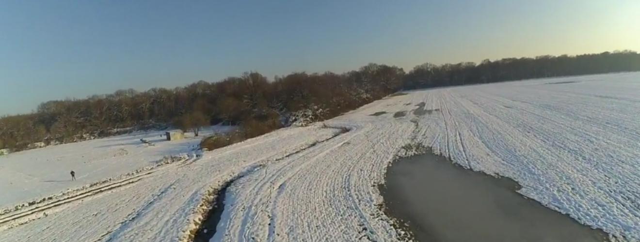 Video : Le terrain sous la neige, vu du ciel!