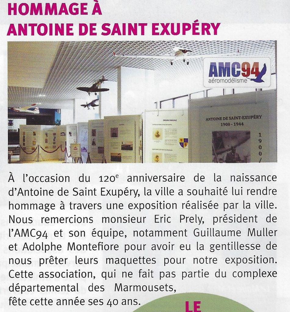 Exposition Hommage à Antoine de Saint-Exupéry à la mairie de La Queue en Brie